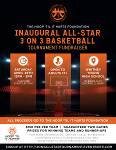 Hoop 'Til It Hurts All Star 3 on 3 Fundraising Tournament